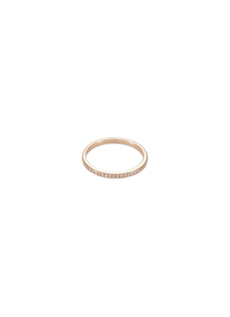 'Eternity' diamond 18k rose gold ring