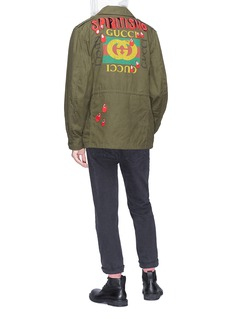 Gucci 'Spiritismo' slogan appliqué logo print jacket