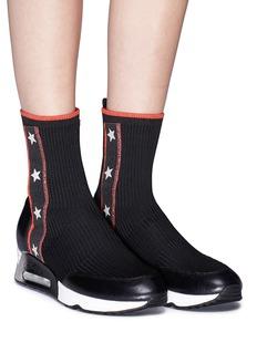 Ash 'Liberty' star stripe high top sock knit sneakers