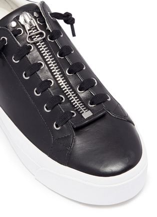 Detail View - Click To Enlarge - Ash - 'Buzz' zip leather platform sneakers