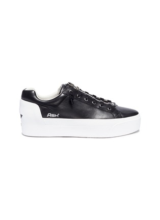 Main View - Click To Enlarge - Ash - 'Buzz' zip leather platform sneakers