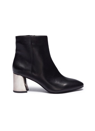 Main View - Click To Enlarge - Ash - 'Harlem' mirror heel leather ankle boots