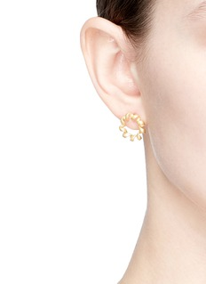 Belinda Chang Twist ribbon ring stud earrings