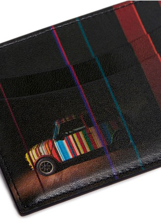 Detail View - Click To Enlarge - Paul Smith - 'Mini Graphic Edge' print leather cardholder