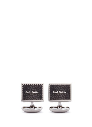 Main View - Click To Enlarge - Paul Smith - Enamel stitch signage cufflinks