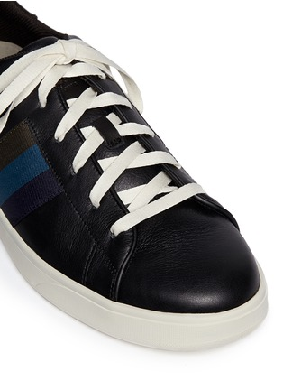 Detail View - Click To Enlarge - Paul Smith - 'Lawn' side stripe leather sneakers