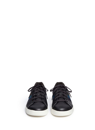 Front View - Click To Enlarge - Paul Smith - 'Lawn' side stripe leather sneakers