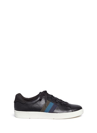Main View - Click To Enlarge - Paul Smith - 'Lawn' side stripe leather sneakers