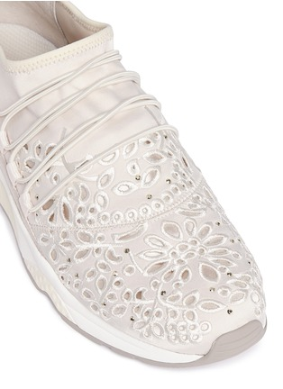 Detail View - Click To Enlarge - Ash - 'Miss Flora' strass floral cutout sneakers