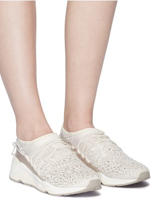 Figure View - Click To Enlarge - Ash - 'Miss Flora' strass floral cutout sneakers
