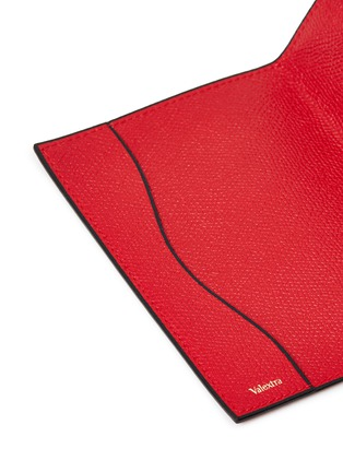 Detail View - Click To Enlarge - VALEXTRA - Leather passport holder –Red