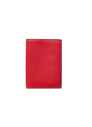 Main View - Click To Enlarge - VALEXTRA - Leather passport holder –Red