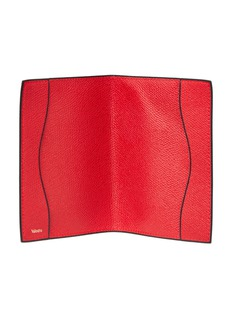 Valextra Leather passport holder – Red