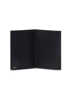 Valextra Leather passport holder – Black