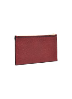 Valextra Leather zip pocket card holder