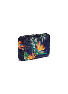 Judith Leiber 'Bird of Paradise' crystal pavé clutch
