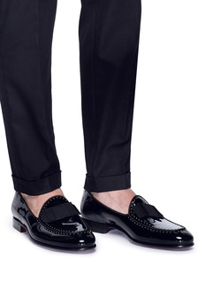Dolce & Gabbana 'Tuxedo' studded patent leather loafers