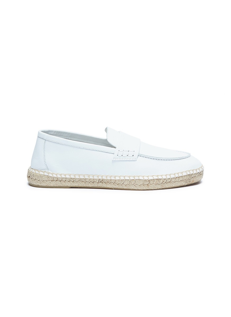 Daria leather espadrille loafers by Vince
