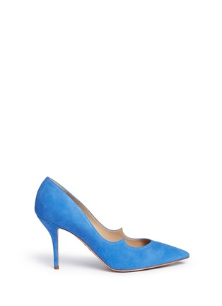 Main View - Click To Enlarge - Paul Andrew - 'Kimura' suede pumps