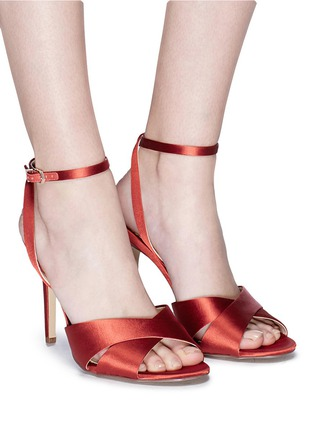 Figure View - Click To Enlarge - Sam Edelman - 'Aly' cross strap satin sandals