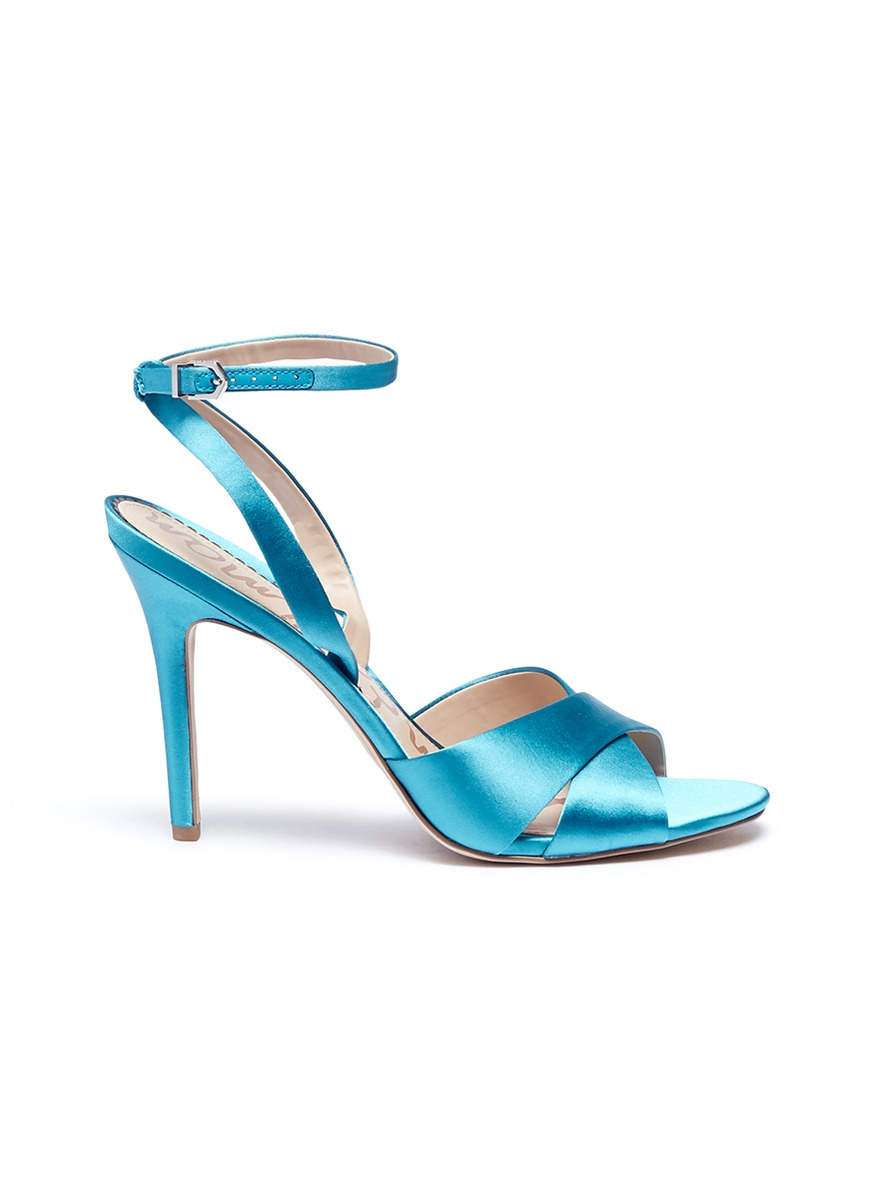 Aly cross strap satin sandals by Sam Edelman