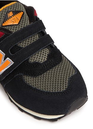 Detail View - Click To Enlarge - New Balance - '574' strap suede toddler sneakers