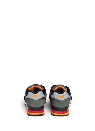 Back View - Click To Enlarge - New Balance - '574' strap suede kids sneakers