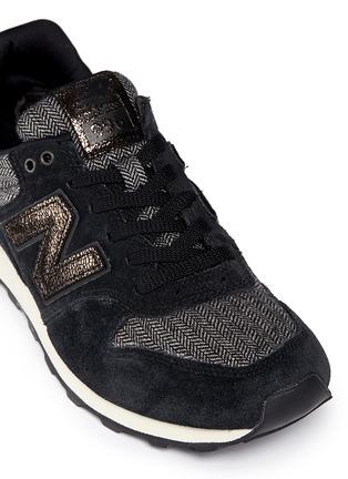 Detail View - Click To Enlarge - NEW BALANCE - '996' herringbone suede running sneakers
