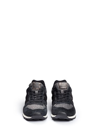 Front View - Click To Enlarge - New Balance - '996' herringbone suede running sneakers