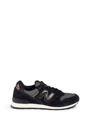 Main View - Click To Enlarge - New Balance - '996' herringbone suede running sneakers