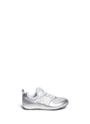Main View - Click To Enlarge - NEW BALANCE - '574' metallic faux leather toddler sneakers