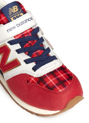 Detail View - Click To Enlarge - New Balance - '996' strap tartan check kids sneakers
