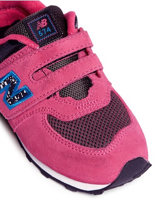 Detail View - Click To Enlarge - New Balance - '574' suede mesh toddler sneakers