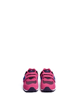 Figure View - Click To Enlarge - New Balance - '574' suede mesh toddler sneakers