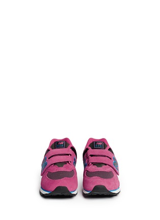 Figure View - Click To Enlarge - New Balance - '574 Outside In' strap suede kids sneakers