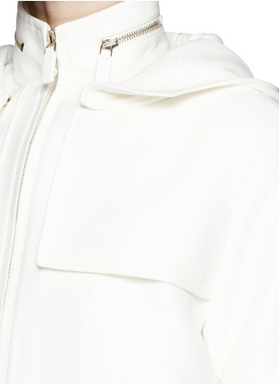Detail View - Click To Enlarge - Valentino - 'Army Couture' cotton-silk drawstring parka