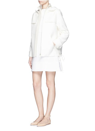 Figure View - Click To Enlarge - Valentino - 'Army Couture' cotton-silk drawstring parka