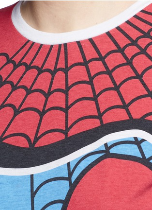 Detail View - Click To Enlarge - Valentino - Super-H' Spiderman print T-shirt