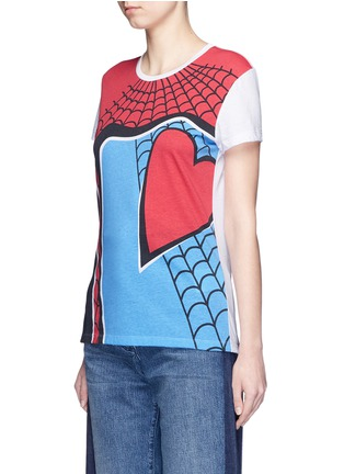 Front View - Click To Enlarge - VALENTINO - Super-H' Spiderman print T-shirt