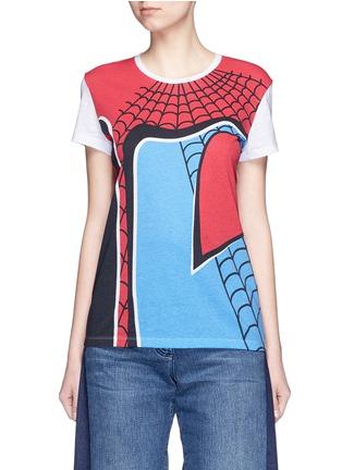 Main View - Click To Enlarge - VALENTINO - Super-H' Spiderman print T-shirt
