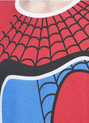 Detail View - Click To Enlarge - Valentino - 'Super-H' Spiderman print T-shirt