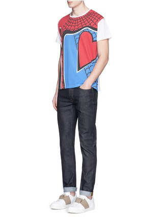 Figure View - Click To Enlarge - Valentino - 'Super-H' Spiderman print T-shirt