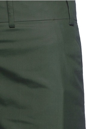 Detail View - Click To Enlarge - Valentino - Cotton poplin wide leg pants