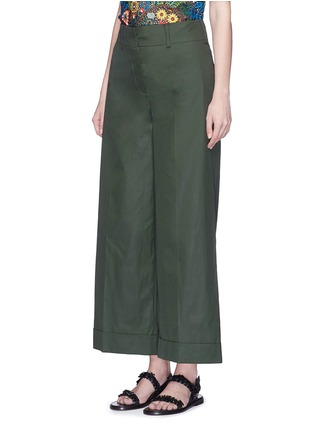 Front View - Click To Enlarge - VALENTINO - Cotton poplin wide leg pants
