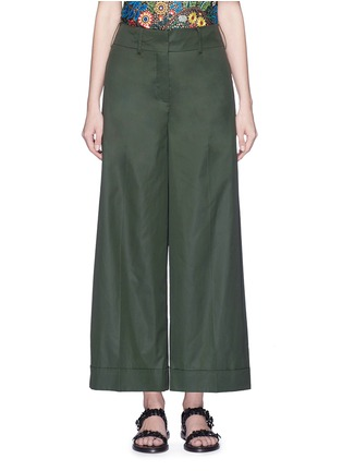 Main View - Click To Enlarge - VALENTINO - Cotton poplin wide leg pants