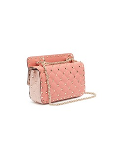 Valentino 'Rockstud Spike' floral appliqué small quilted leather crossbody bag