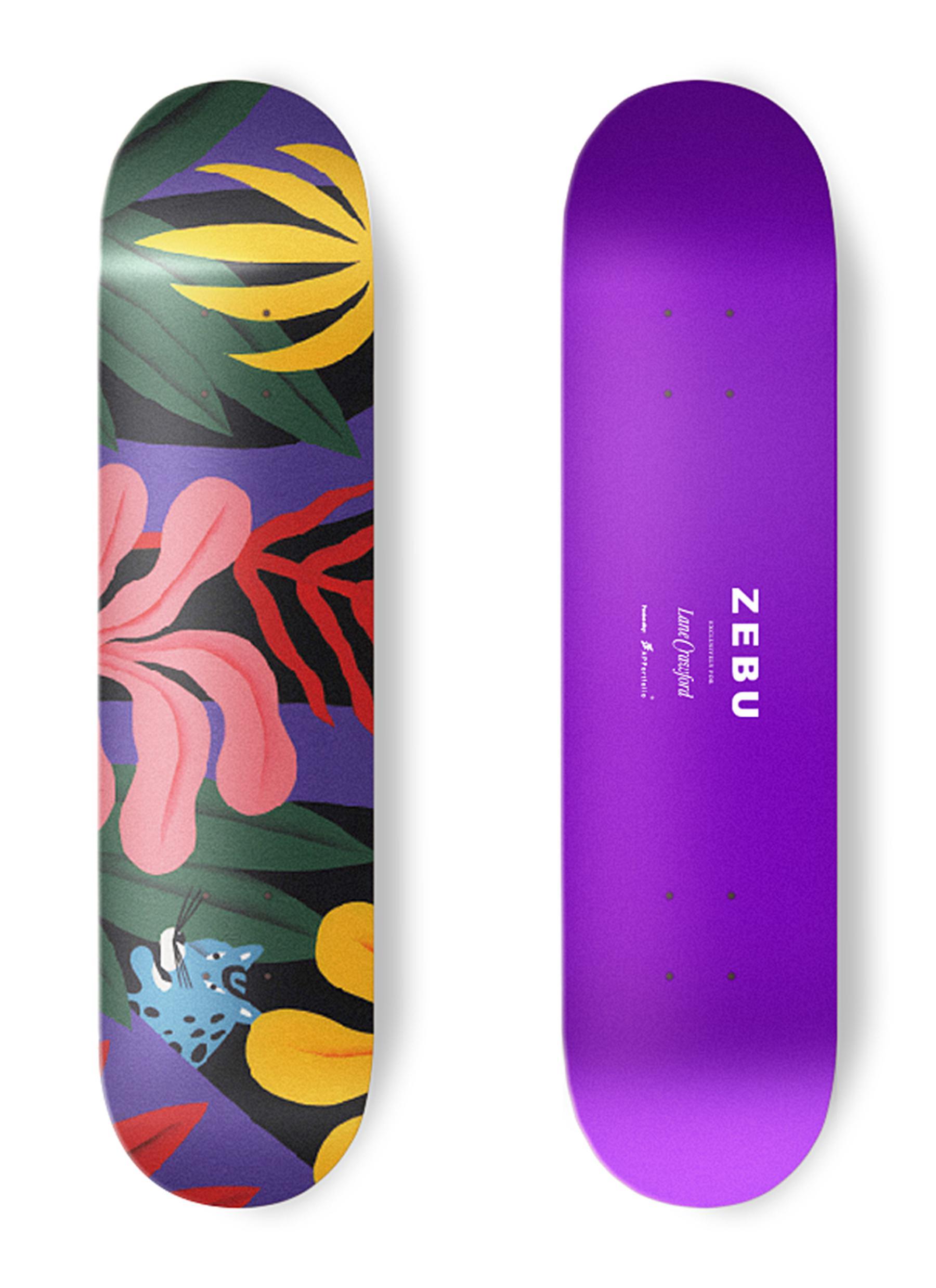 Lane Crawford X Zebu Leaf Skateboard