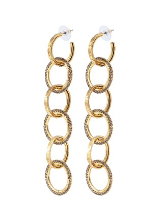 Main View - Click To Enlarge - Erickson Beamon - 'Breaker of Chains' Swarovski crystal interlocking hoop earrings