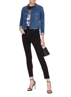 L'Agence 'Janelle' raw hem denim jacket