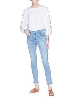 J Brand '811' split cuff skinny jeans